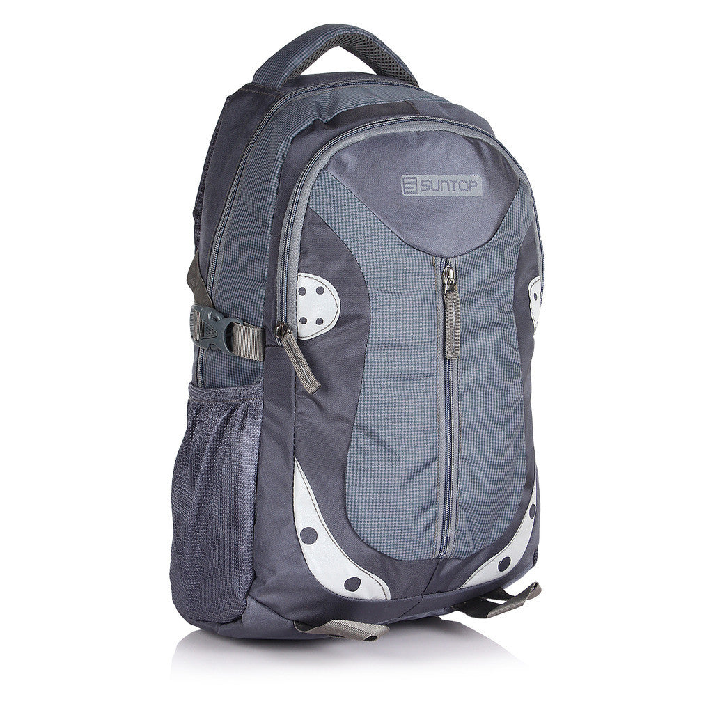 Suntop Neo 9 26 L Backpack(Graphite Grey and Grey Checks)