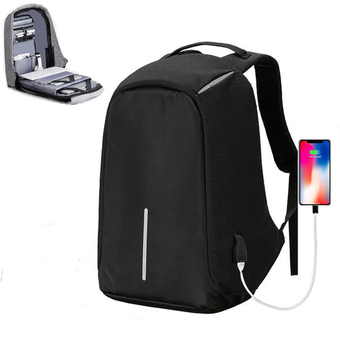 Suntop TechBob AntiTheft USB 13 Litres Black Laptop Backpack