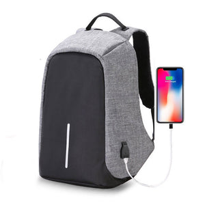 Suntop TechBob AntiTheft USB 13 Litres Grey Laptop Backpack