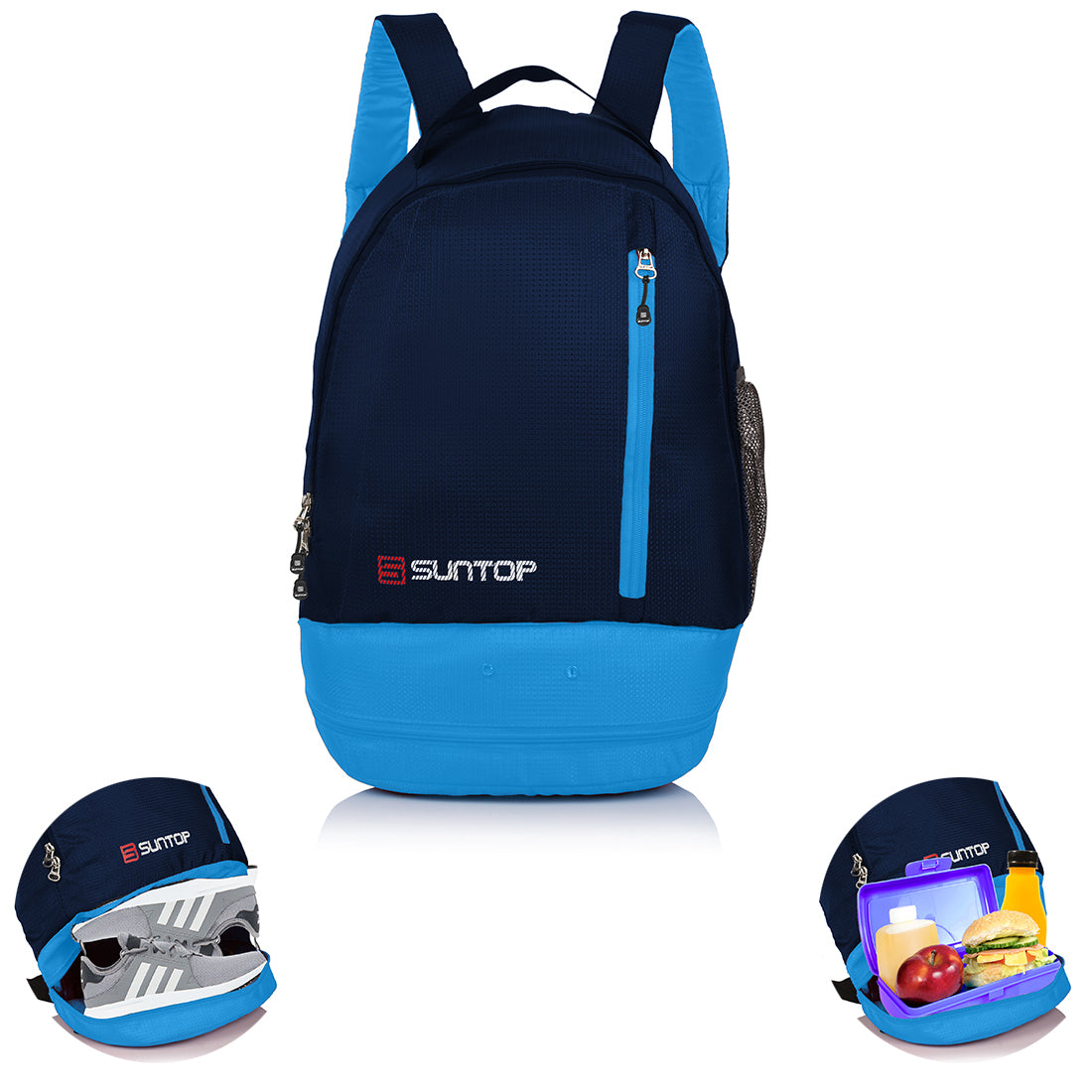 Suntop Air One 20 litres Lightweight Backpack Bag with Shoe Compartment (Sky Blue)