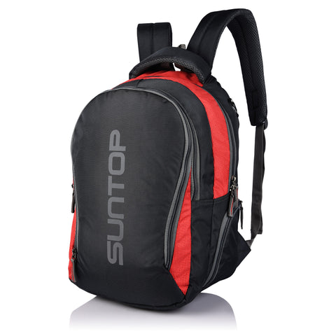 Suntop Neo 3 25 L Medium Backpack(Graphite Grey and Red Checks)
