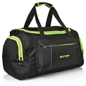 Suntop Alive  40 Litres/20 Inch Gym / Travel Duffel Bag (Black & Neon Green)