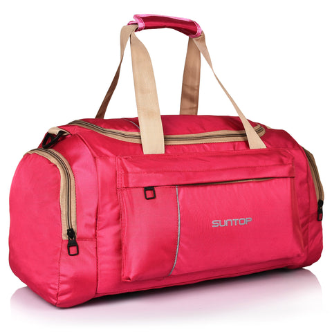 Suntop Alive Travel/Gym/Fitness Travel Duffel Bag  (Pink, Beige)