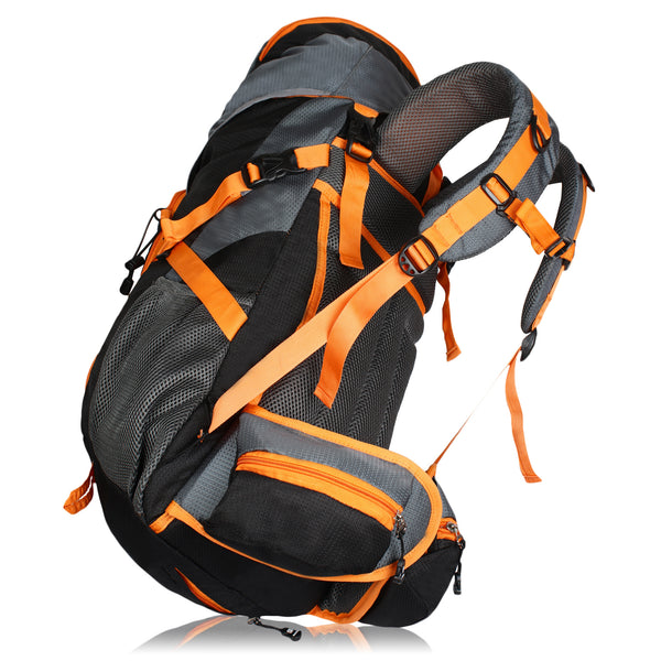 Suntop Nimble 60 Trekking Rucksack Backpack with Raincover (Black & Orange)