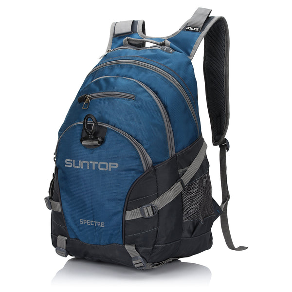 Suntop Spectre Water Resistant Backpack Bag (Blue and Grey)