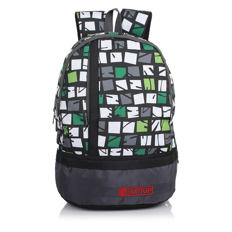 Suntop Pixel 26 L Small Backpack(Grey Print)
