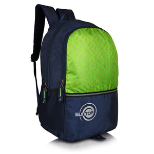 Suntop Pixel Backpack Bag(Black and Green)