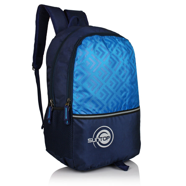 Suntop Pixel Backpack Bag(Black and Blue)