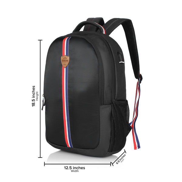 Suntop Superstar 25 Ltrs Laptop Backpack (Black)
