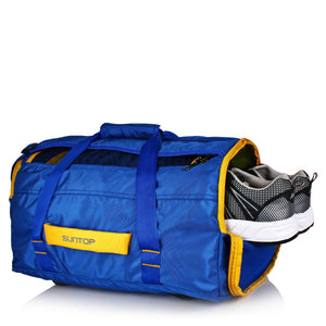 Suntop Sports/Gym Backpack with Shoe Pocket (Blue)