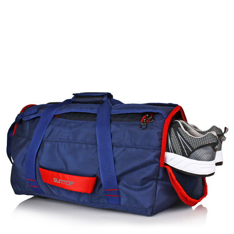 Suntop Sports/Travel/Gym Backpack with Shoe Pocket (Navy)
