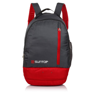 Suntop Air One 20 Litres Lightweight Backpack Bag with Shoe Compartment (Red)
