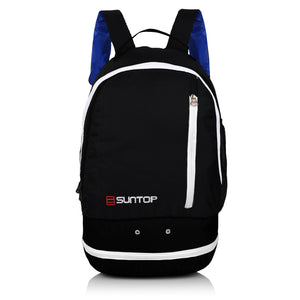 Suntop Air One 20 Litres Lightweight Backpack Bag with Shoe Compartment (White)