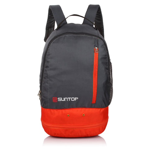 Suntop Air One 20 Litres Lightweight Backpack Bag with Shoe Compartment (Orange)