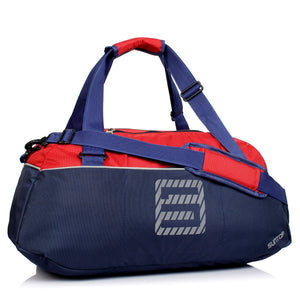 Suntop Sportive Yog Polyester 24 Ltr Navy Blue-Red Sports Duffel