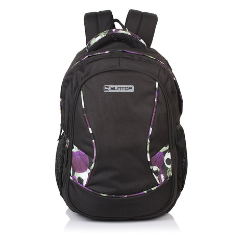 Suntop Bolt 35 L School/College Backpack(Onyx Black Colour) with Laptop Padding