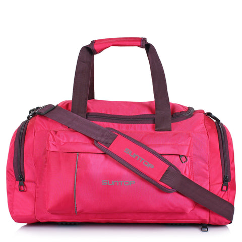 Suntop Alive Travel/Gym/Fitness Travel Duffel Bag  (Pink, Purple)