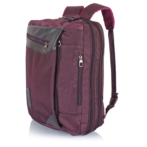 "Suntop Dexter Wine Colour 3 Way Shoulder Backpack Bag(Water-resistant fabric|For Upto 15.6"" Laptop)"