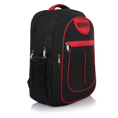 Suntop Glide 32 L Large Laptop Backpack(Black and Red)