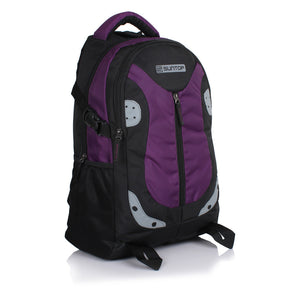 Suntop Neo 9 26 L Medium Laptop Backpack(Black and Violet Checks)