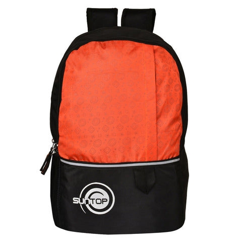 Suntop Pixel Daypack Bag Waterproof Fabric 24 L Backpack(Black and Orange)