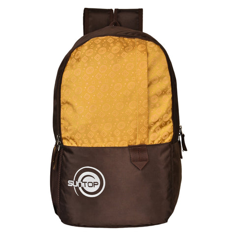 Suntop Pixel Daypack Bag Waterproof Fabric 24 L Backpack(Brown and Mustard Yellow)