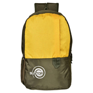 Suntop Pixel Daypack Bag Waterproof Fabric 24 L Backpack(Brown and Yellow)
