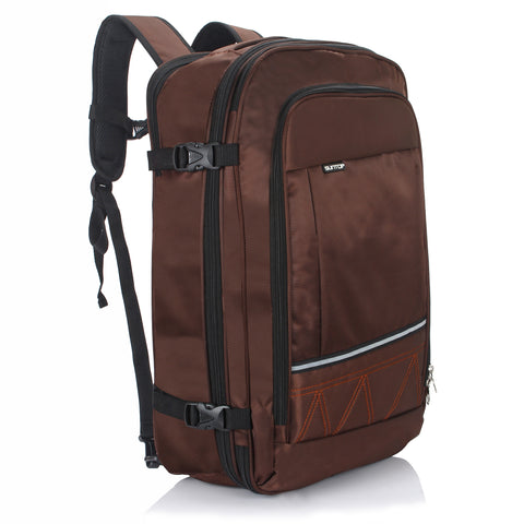 Suntop Voyager 48 litres Expandable & Convertible 3 Way Travel Carry-On Backpack (Brown Colour)