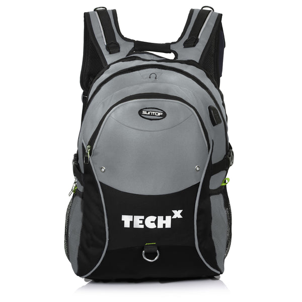 Suntop TechX USB Laptop Backpack for upto 15.6 inches (Grey)