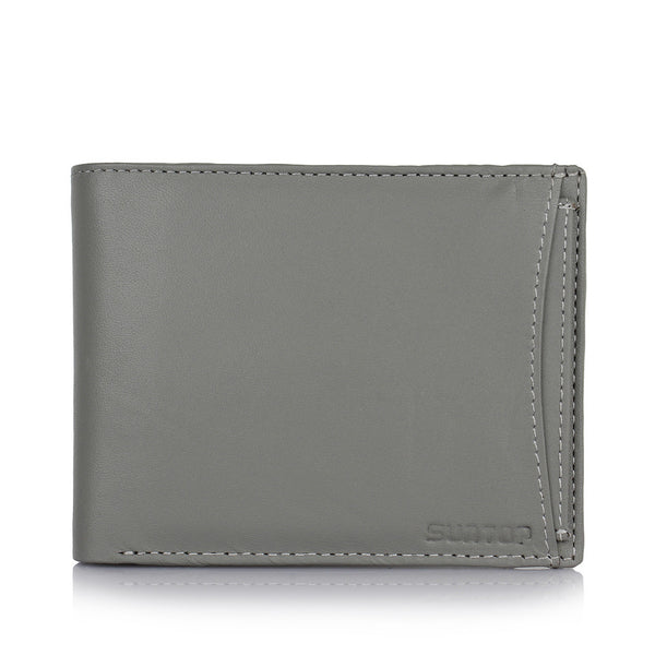 Suntop Pebble Genuine Leather Wallet Combo with Leather Keychain, Card-Holder and Reversible Buckle Belt