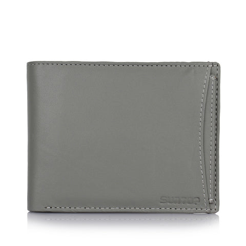 Suntop Pebble Genuine Leather Wallet(Grey)
