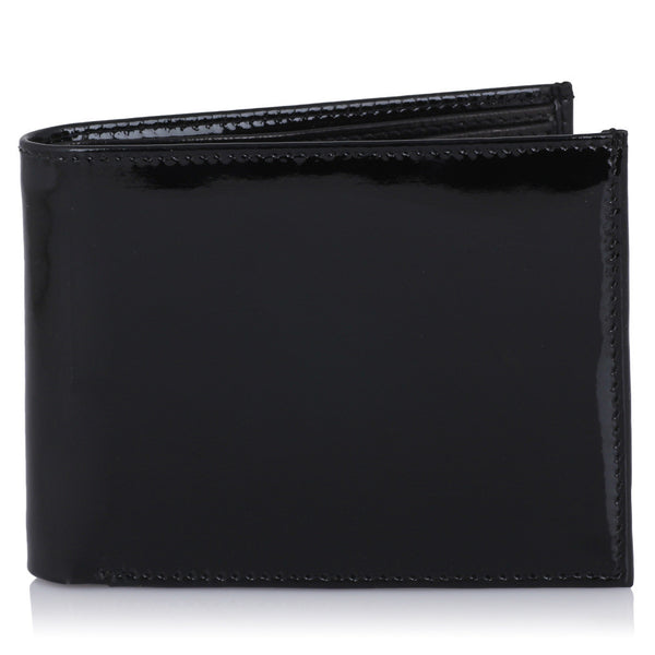 Suntop Premium Patent Leather Shiny Wallet and Reversible Belt Buckle Combo