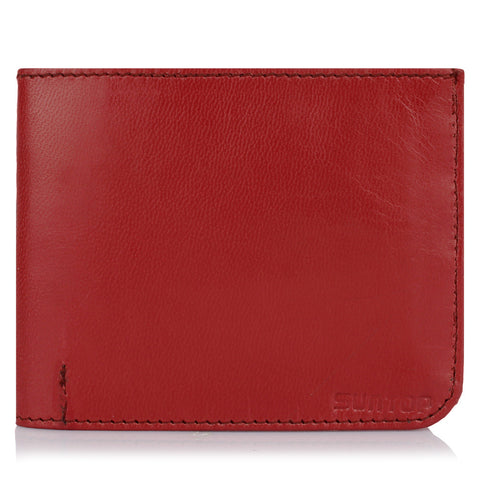 Suntop Slim Genuine Leather Wallet (Mehroon)