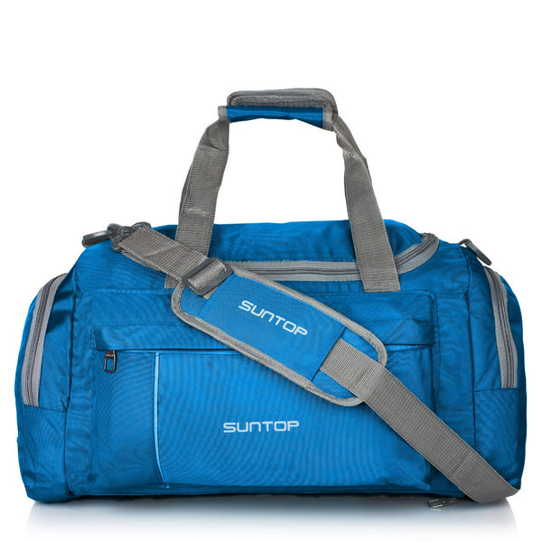 Suntop Alive 40 Litres/20 Inch Gym / Travel Duffel Bag (Turquoise Blue)