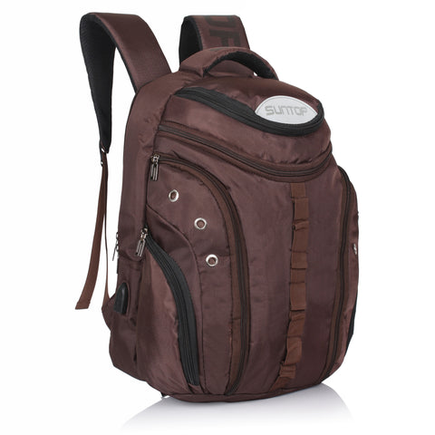 Suntop Voltaire USB 32 Litres Brown Laptop Backpack