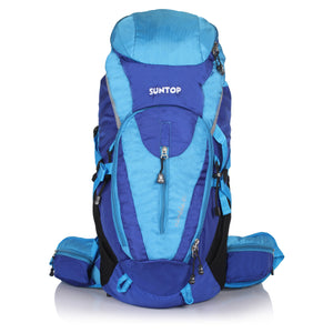 Suntop Nimble 60 Trekking Rucksack Backpack with Raincover (Sky Blue)