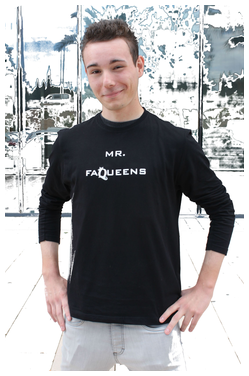 camiseta manga larga sexy mr faqueens con Korbinian Kindshofer