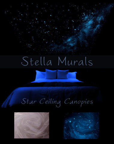 glow in the dark star ceiling canopy