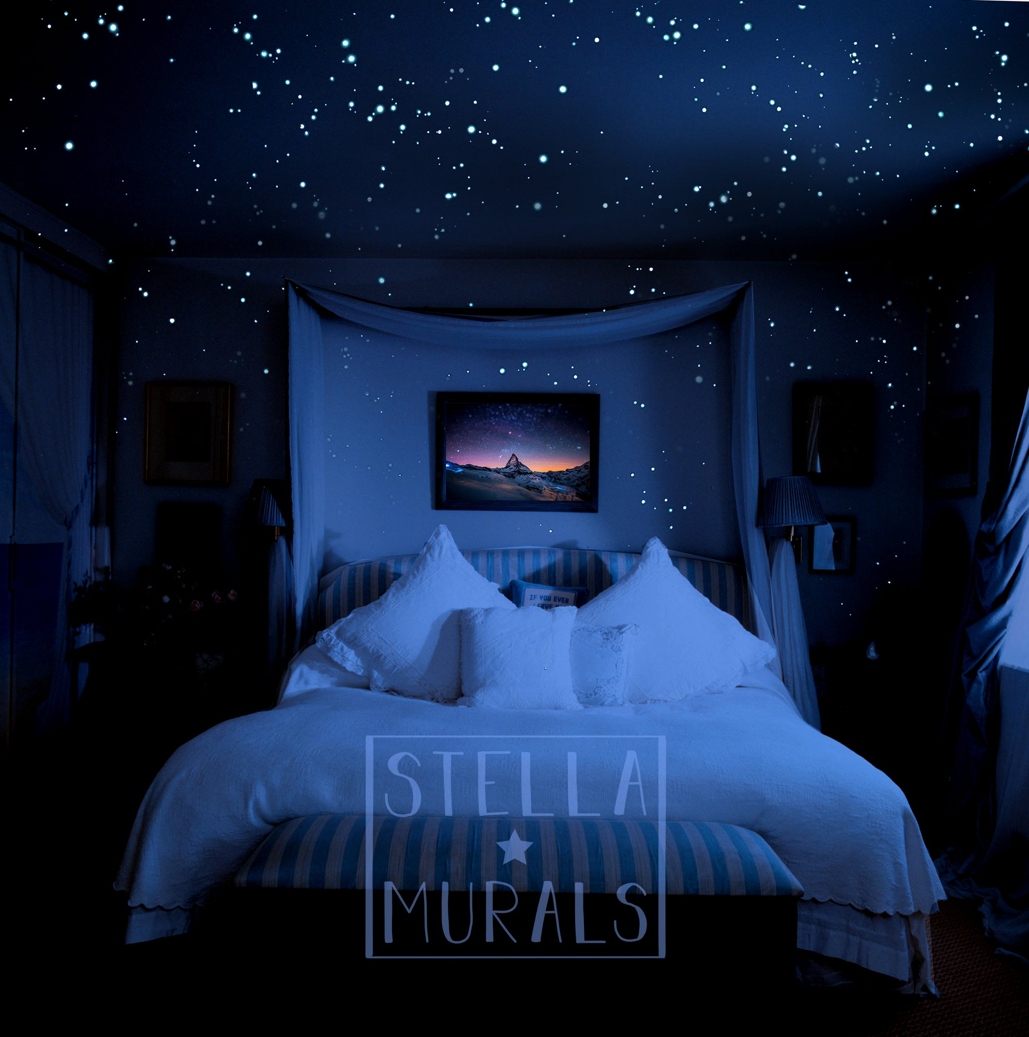 Glow In The Dark Star Stickers For A Realistic Night Sky Ceiling Stella Murals