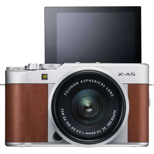 Fujifilm X-A5 Kit with 15-45mm Brown