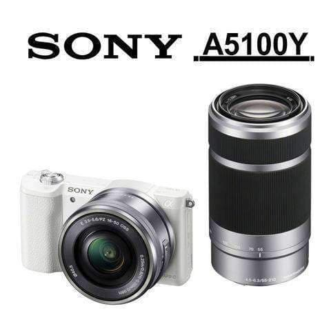 Sony A5100Y Twin Kit White (with 16-50mm & 55-210mm Lens)
