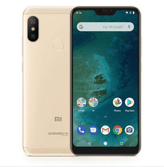 Xiaomi Mi A2 Lite (English Box, 64GB/4GB, Gold)