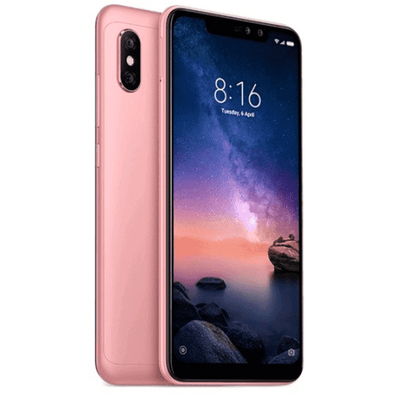 Xiaomi Redmi Note 6 Pro (64GB/4GB, Pink, English Box)