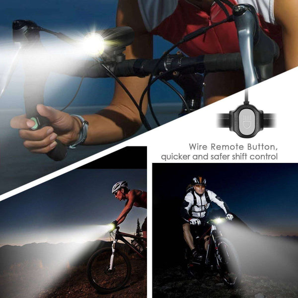 Luminax 1000 Lumens Front Bicycle light ( includes rear light) - DUVO BIKES