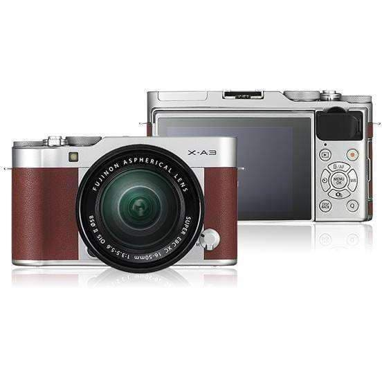 FUJIFILM Mirrorless Camera Fujifilm X-A3 Kit with 16-50mm Brown duvolab
