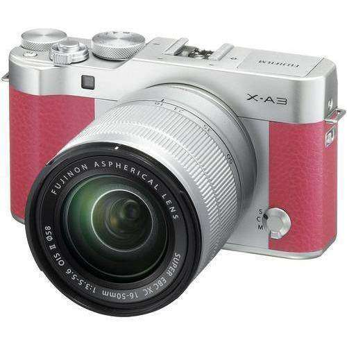 FUJIFILM Mirrorless Camera Fujifilm X-A3 Kit with 16-50mm Pink duvolab