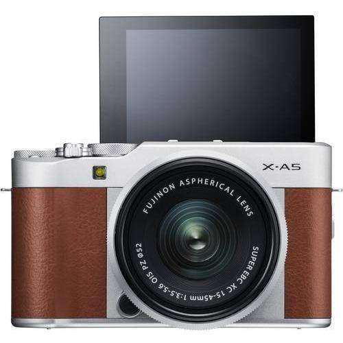 FUJIFILM Mirrorless Camera Fujifilm X-A5 Kit with 15-45mm Brown duvolab