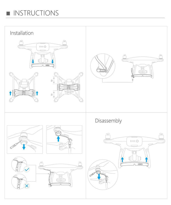Air-Dropping system for DJI Phantom 4 pro/4 pro v2.0/4 pro