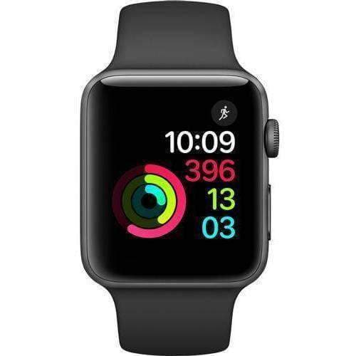 Apple Watch 2 42mm Grey Alumnium Case With Black Sport Band MP062