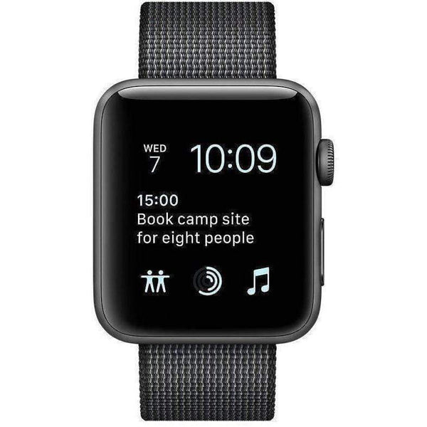 Apple Smart Watch Apple Watch 2 42mm Grey Alumnium Case With Black Woven Nylon Band MP072 duvolab